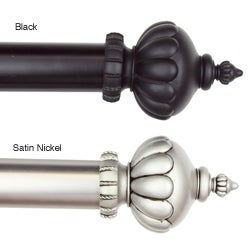 Stately 48-84-inch Adjustable Curtain Rod Set