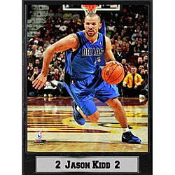Dallas Mavericks Charging Jason Kidd Stat Plaque
