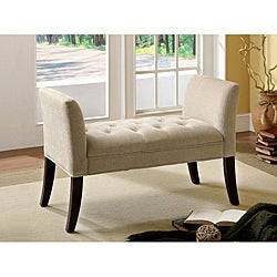 Furniture of America Veiah Button Tufted Bench
