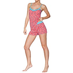 Ilusion Women's Hearts Cami/ Shorts Pajama Set
