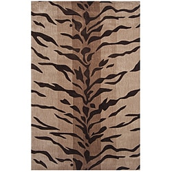 Hand-tufted Dynasty Beige/ Brown Rug (9'6 x 13'6)