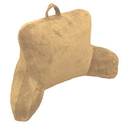 Wheat Micro Plush Bedrest Lounger