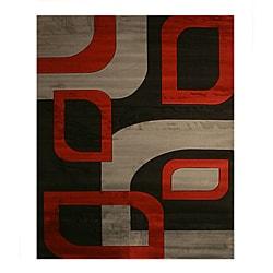 Monte Carlo Black/ Grey Rug (7'10 x 9'10)