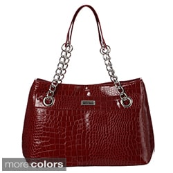 Kenneth Cole Reaction Cute Croco Embosseed Tote Bag