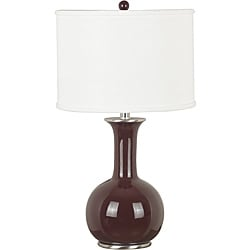 Daniella 25-inch Gloss Chocolate Finish Table Lamp