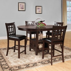 Banbury Warm Cherry Mission 5-piece Counter Height Set