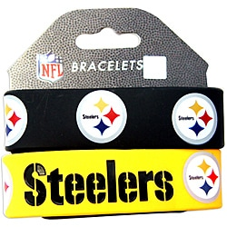 Aminco Pittsburgh Steelers Rubber Wristbands (Set of 2)