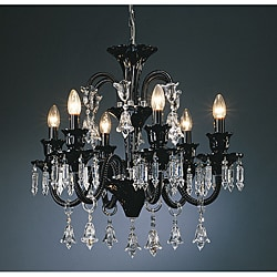 Karlin Black Glass 6-light Chandelier