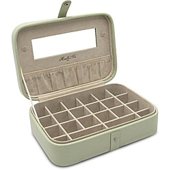 Morelle 'Kimberly' Green Leather Versatile Jewelry Box