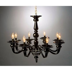Odetta Black Glass Chandelier
