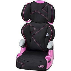 Evenflo AMP High Back Booster Car Seat in Pink Angles