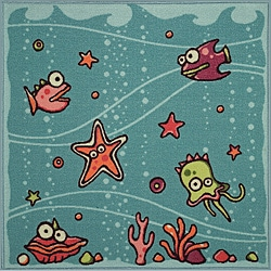 Tufted Under the Sea Rug (3' x 3')