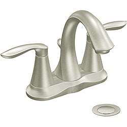 Moen 6410BN EVA Two-Handle Bathroom Faucet Brushed Nickel