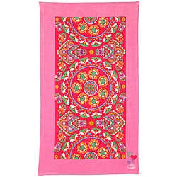 Steve Madden 'Brielle Pink' Deluxe Cotton Beach Towel