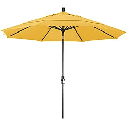Fiberglass Yellow Olefin Crank and Tilt Umbrella (11-foot)