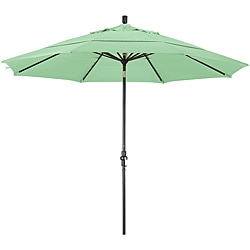 Fiberglass Spa Green Olefin Crank/Tilt Umbrella (11-feet)