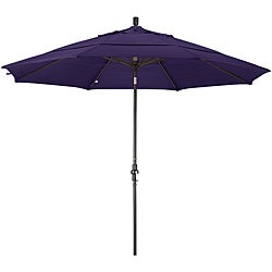 Fiberglass Dark Purple Olefin Crank/Tilt Umbrella (11-feett)
