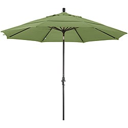Fiberglass Palm Green Olefin Crank/Tilt Umbrella (11-foot )