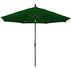 Fiberglass Hunter Green Olefin Crank/Tilt Umbrella (11-foot)