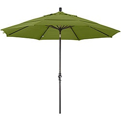 Fiberglass Gingko Olefin Crank/Tilt Umbrella (11-foot )