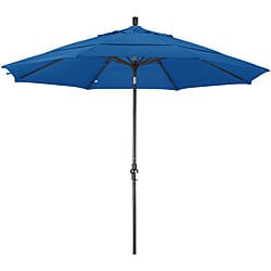 Fiberglass Pacific Blue Olefin Crank/Tilt Umbrella (11-foot )