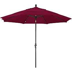 Fiberglass Burgundy Olefin Crank/Tilt Umbrella (11-foot )