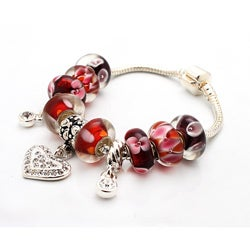 Bleek2Sheek Truly In Love Collection: Red Edition Charm Bracelet
