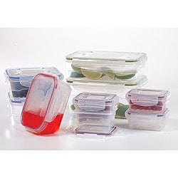 Lock Store Microban 18-piece Food Storage Set