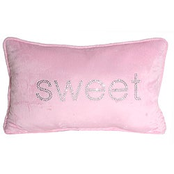 Thro 12 x 20 Sweet Rhinestone Pillow