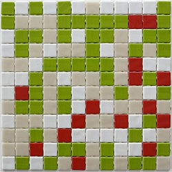 Viridian 'Orchard' 1-in. Recycled Glass Tiles (pack of 15)
