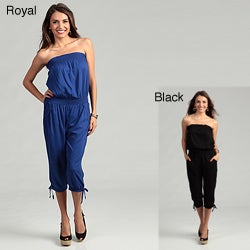 LA Class Junior's Strapless Blouson Jumpsuit FINAL SALE