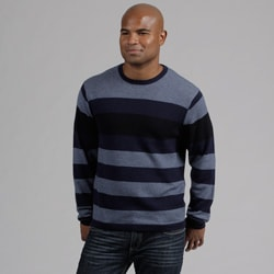 Weatherproof Men&#39;s Engineered Stripe Merino Wool/Cashmere Blend Sweater