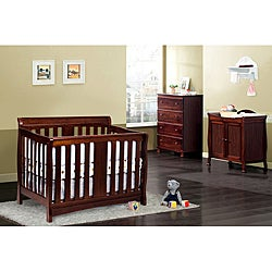 DaVinci Rowan 4-in-1 Espresso Crib with Toddler Rail