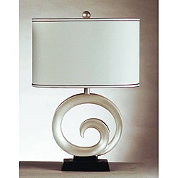 Swirl Pearl White Table Lamps (Set of 2)