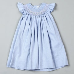Petit Ami Girl's Toddler Blue Striped Ruffle Dress