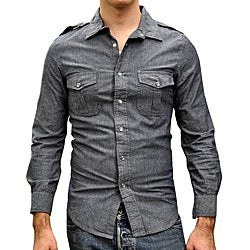 Something Strong Men's Snap Front Denim Shirt
