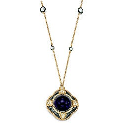 Isabella Collection Women's Black Ruthenium Glass Pendant