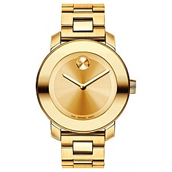 Movado Bold Men's Yellow Gold Ion-plated Watch
