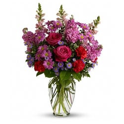 Teleflora Hand-arranged Premium Pink Mixed Flower Bouquet