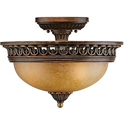 Crystorama Yorktowne 3-light Semi-flush Fixture