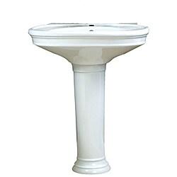 Decolav Vitreous China Pedestal Sink