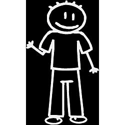Vinyl Letter Decor 'Dad Stick Figure' Car Decal
