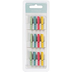Pebbles 'Hip, Hip, Hooray' Mini Clothes Pins (Pack of 12)