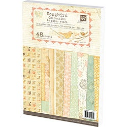Prima Flowers 'Songbird' A4 Paper Stack (48 Sheets)