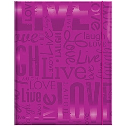 Embossed Gloss 'Live, Love, Laugh' Expressions Bright Purple Photo Album (Holds 100 photos)