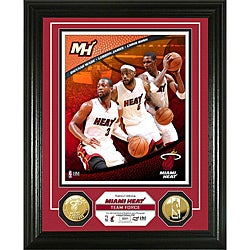 Miami Heat Team Force 24KT Gold Coin Photo Mint