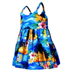 Tropical Paradise Girls Bungee Strap Dress