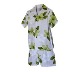 Boys' 2-piece Lime Hibiscus Hawaiian Cabana Set