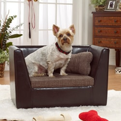 Enchanted Home Pet Brown Modern Bed Glen Plaid