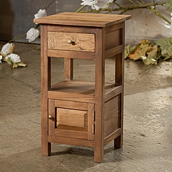 Reclaimed Teak 1-drawer Nightstand (India)